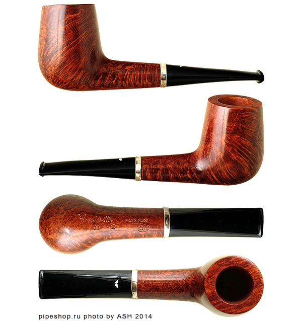 Курительная трубка CAMINETTO AR SMOOTH OVAL SHANK BILLIARD WITH SILVER 03-32