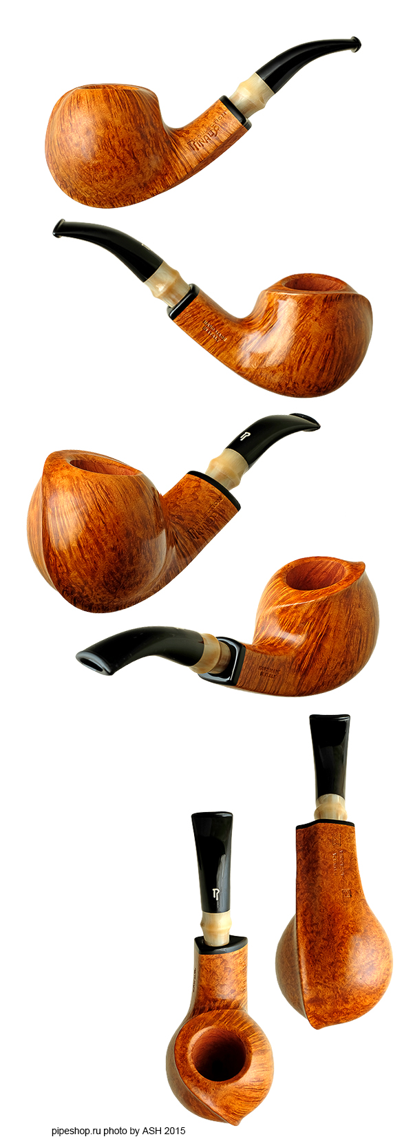 Курительная трубка RINALDO COLLECTION SMOOTH QUARTER BENT APPLE FIAMMATA ACCADEMIA YYY 3