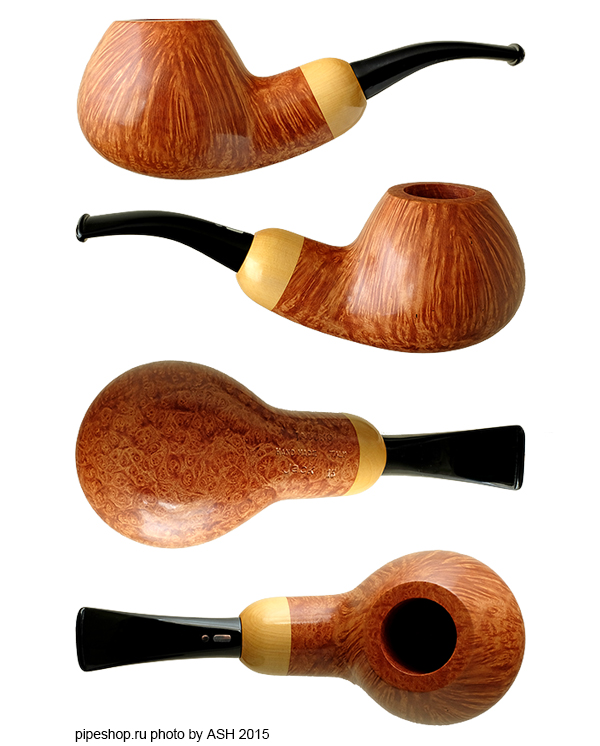 Курительная трубка JACONO JACK SMOOTH SLIGHTLY BENT APPLE WITH BOXWOOD