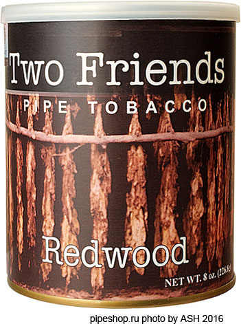 Трубочный табак TWO FRIENDS REDWOOD, банка 227 г.