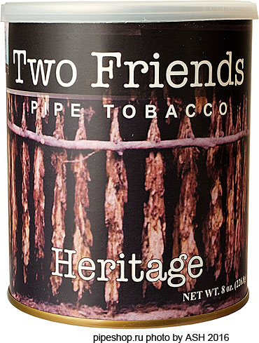 Трубочный табак TWO FRIENDS HERITAGE, банка 227 г.