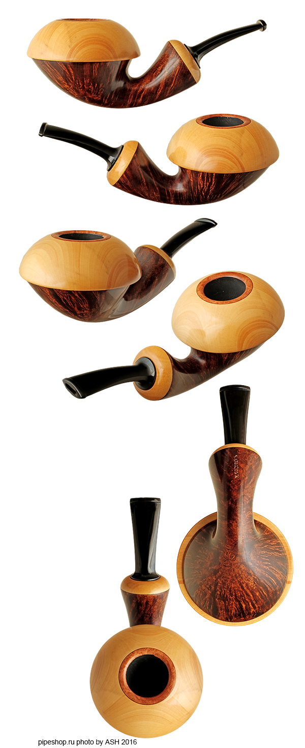 Курительная трубка N. KOZYREVЪ SMOOTH DOUBLE CALABASH WITH BOXWOOD