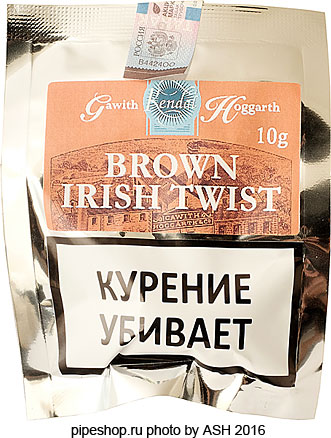Трубочный табак GAWITH HOGGARTH BROWN IRISH TWIST, кисет 10 g (пробник)