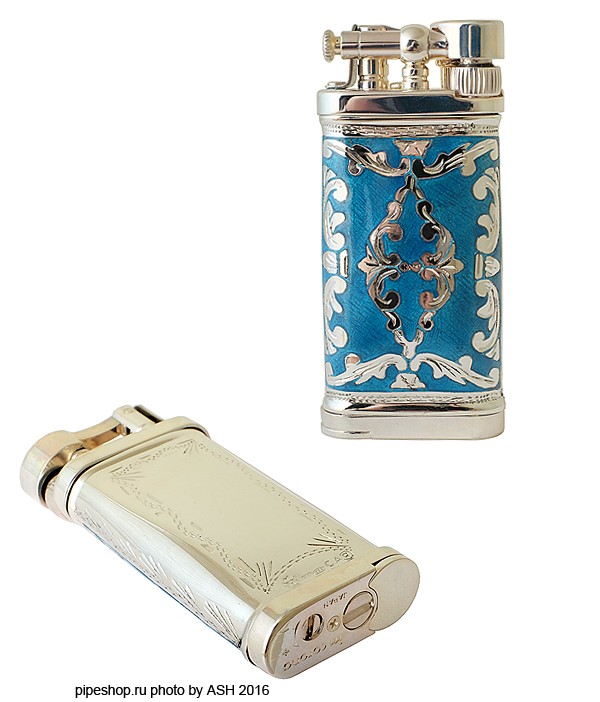 Зажигалка трубочная SILLEM`S Old Boy Linea Epoque Antique Azure Sterling silver