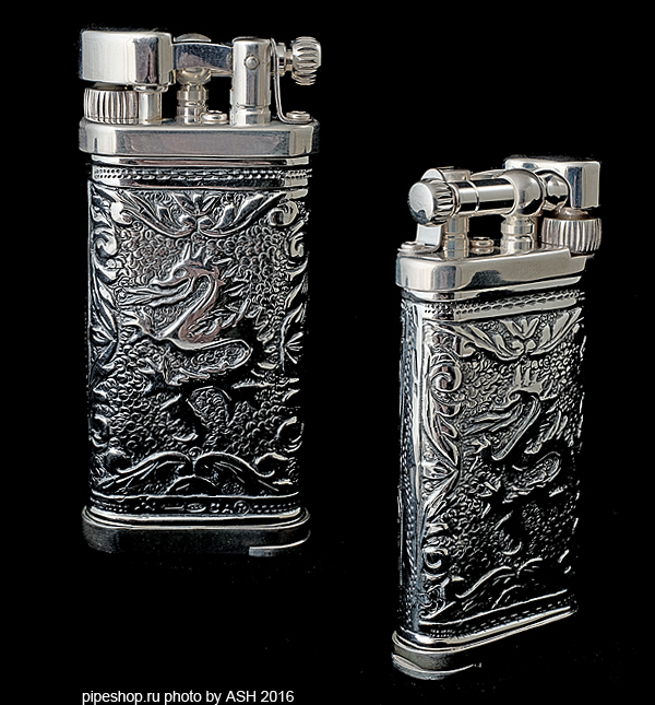 "Зажигалка трубочная SILLEM`S Old Boy Linea Epoque Antique Puro Sterling silver ""DRAGON"" LIMITED EDITION 1989PUR"
