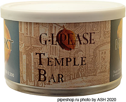 "Трубочный табак ""G.L.PEASE"" Old London Series TEMPLE BAR, банка 57 г."