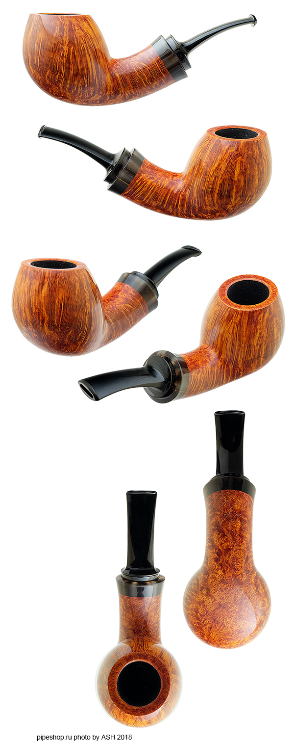 Курительная трубка C. ASTERIOU SMOOTH BENT BRANDY WITH HORN 32/18