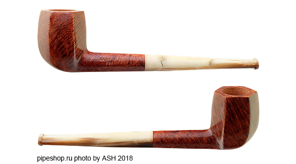 Курительная трубка SAINT-CLAUDE SMOOTH PANELED BILLIARD HORN STEM