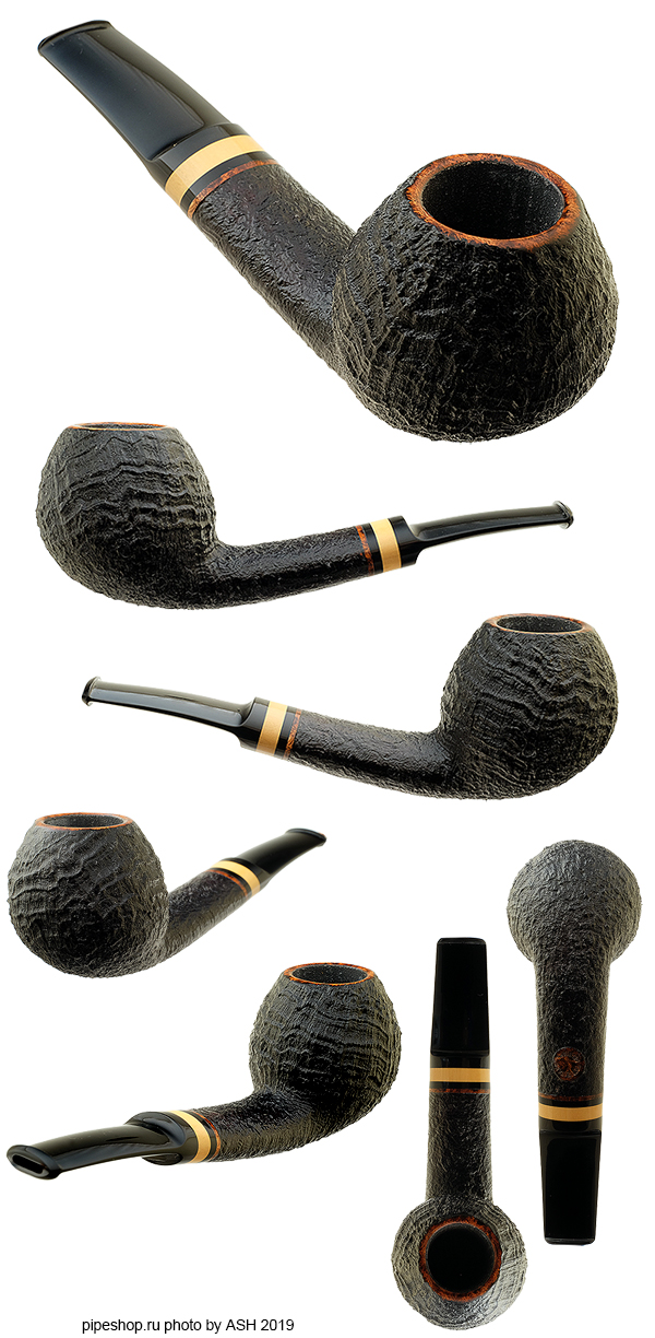Курительная трубка TOM ELTANG SANDBLAST BENT APPLE WITH BOXWOOD