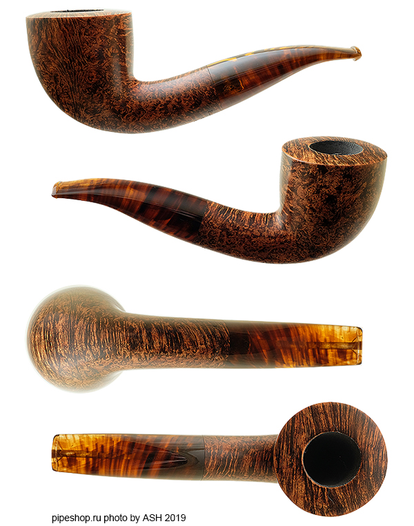 Курительная трубка BRIARWORKS Original DARK SMOOTH BENT DUBLIN OR04 WITH TORTOISE STEM