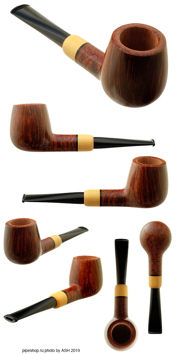 Курительная трубка N. KOZYREVЪ SMOOTH BILLIARD WITH BOXWOOD