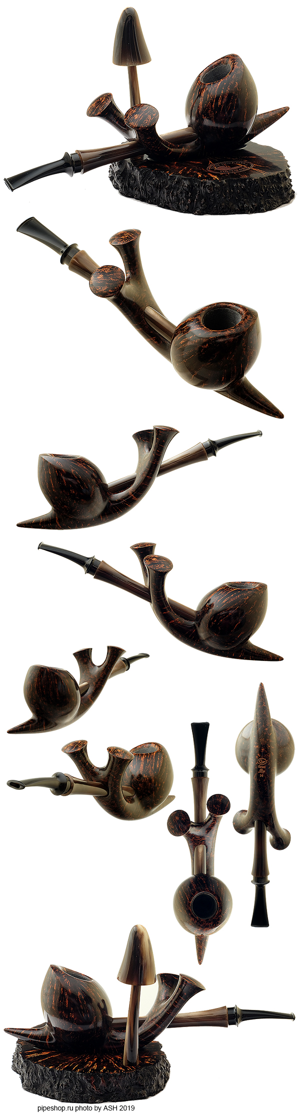 "Курительная трубка TOM ELTANG SMOOTH ""SNAIL"" WITH STAND AND TAMPER Grade SNAIL (2014)"