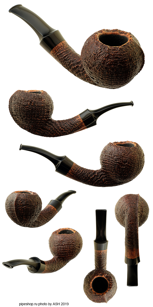 Курительная трубка LASSE SKOVGAARD SANDBLAST BENT APPLE ROUGH TOP