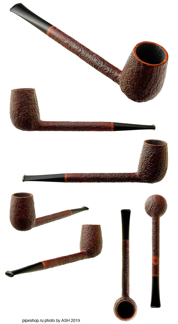 Курительная трубка TOM ELTANG BROWN SANDBLAST FEATHERWEIGHT PENCIL SHANK LIVERPOOL