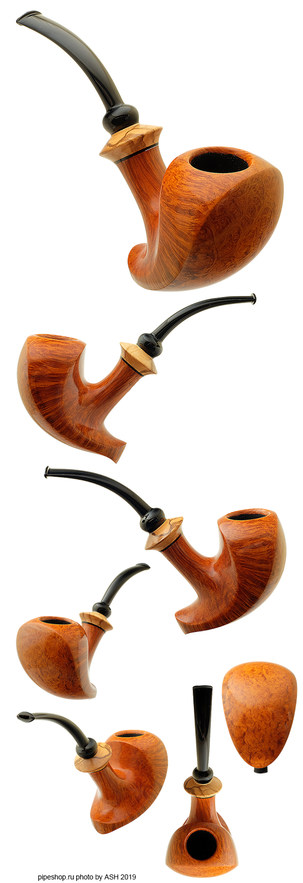 Курительная трубка LASSE SKOVGAARD SMOOTH ELEPHANT FOOT WITH OLIVEWOOD