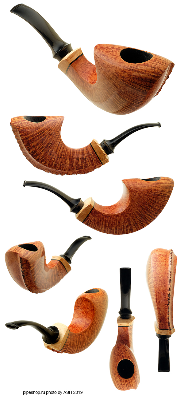 Курительная трубка BENNI JORGENSEN SMOOTH ASYMMETRIC HORN WITH MAZUR BIRCH Grade SWAN