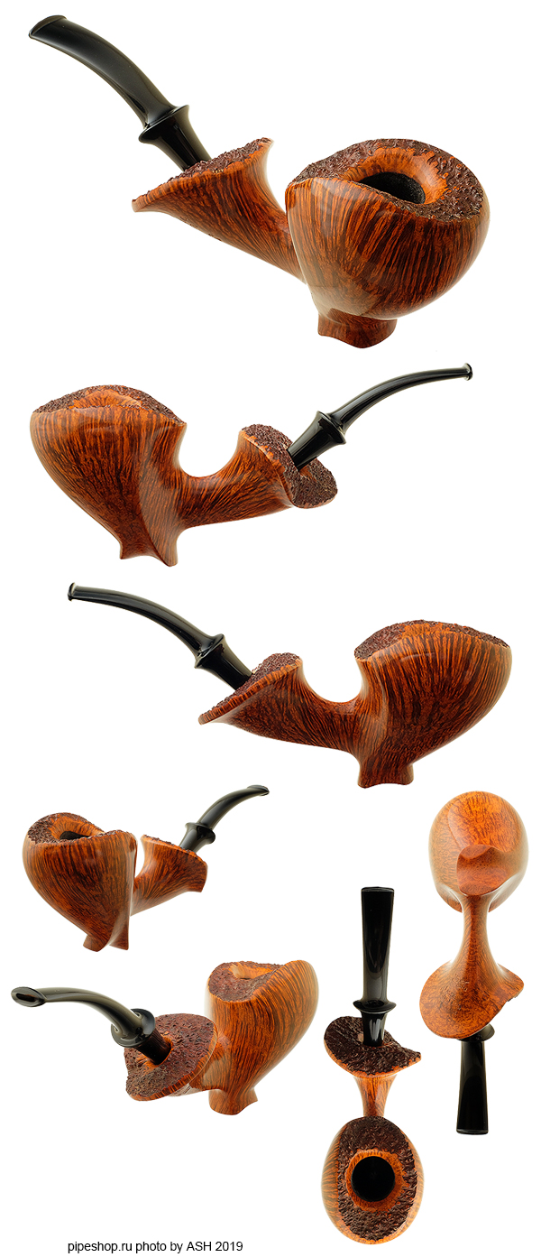 Курительная трубка LASSE SKOVGAARD SMOOTH FREEHAND BENT DUBLIN SITTER WITH PLATEAU Grade LION
