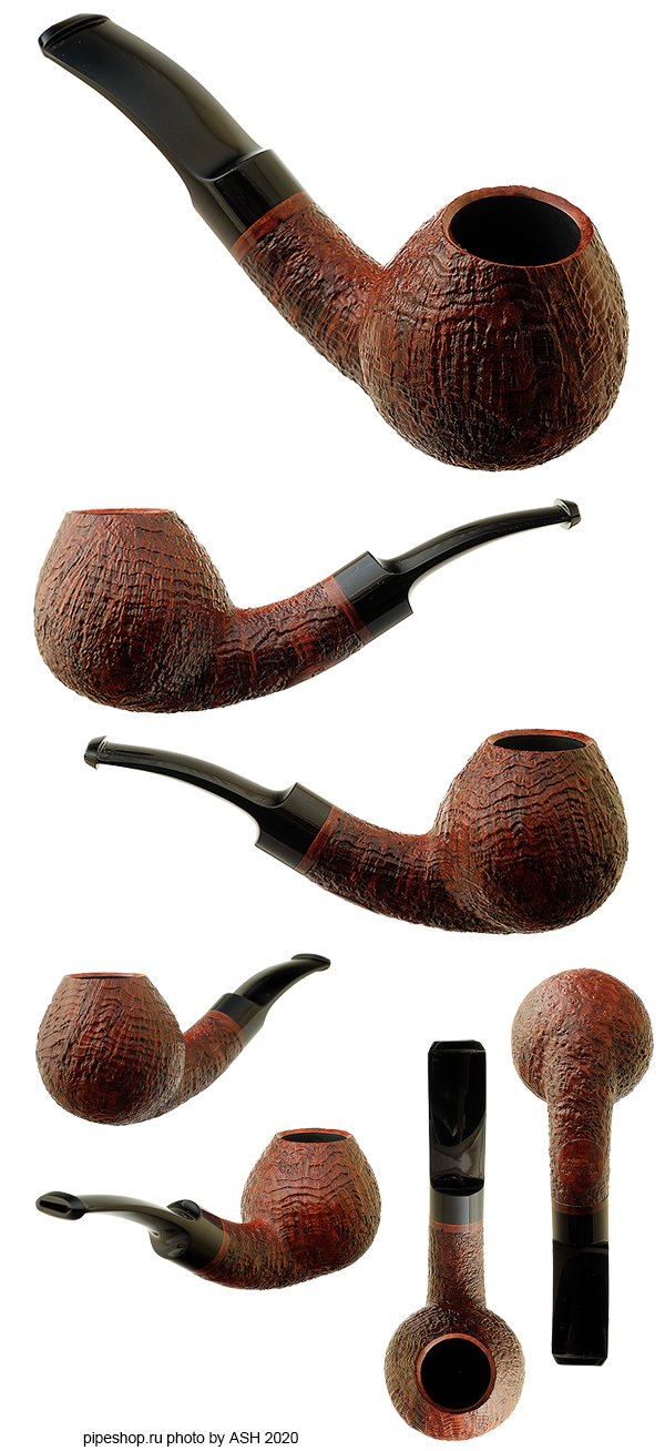 Курительная трубка PS Studio BROWN SANDBLAST BENT BRANDY