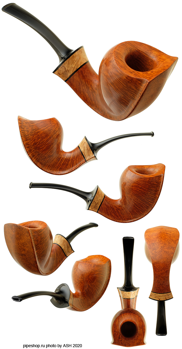 Курительная трубка KENT RASMUSSEN SMOOTH FREEHAND BENT EGG WITH BIRCH Grade BUTTERFLY