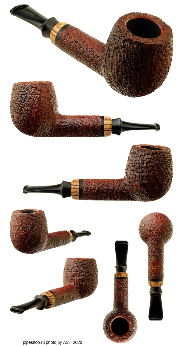 Курительная трубка PS Studio BROWN SANDBLAST LOVAT WITH ZEBRANO