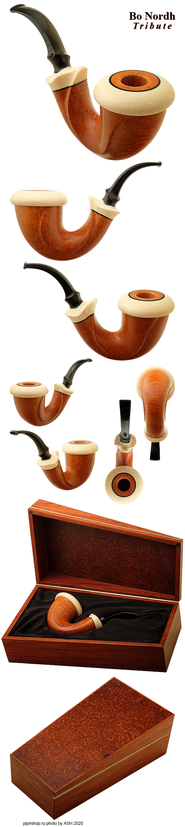 "Курительная трубка TEDDY KNUDSEN ""BO NORDH TRIBUTE"" SMOOTH IVORITE CALABASH Grade DOUBLE EAGLES"