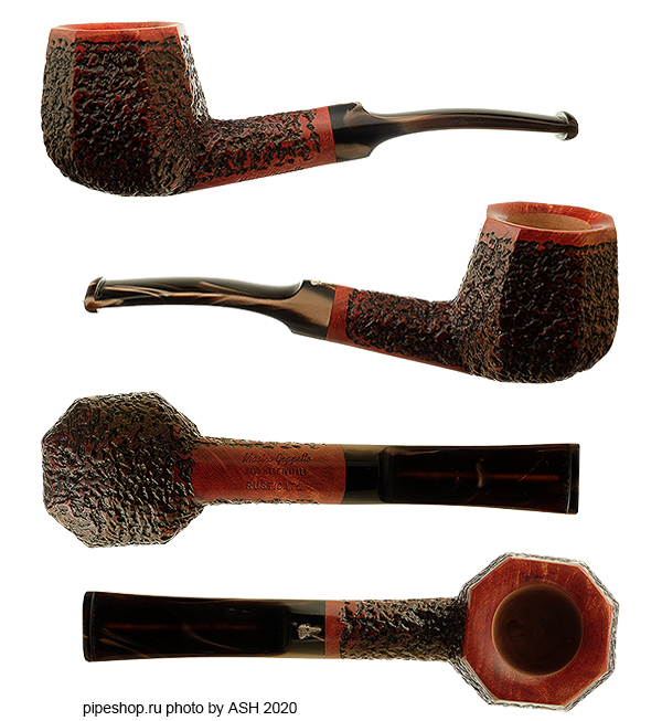 Курительная трубка MASTRO GEPPETTO RUSTICATO BENT PANELED BRANDY