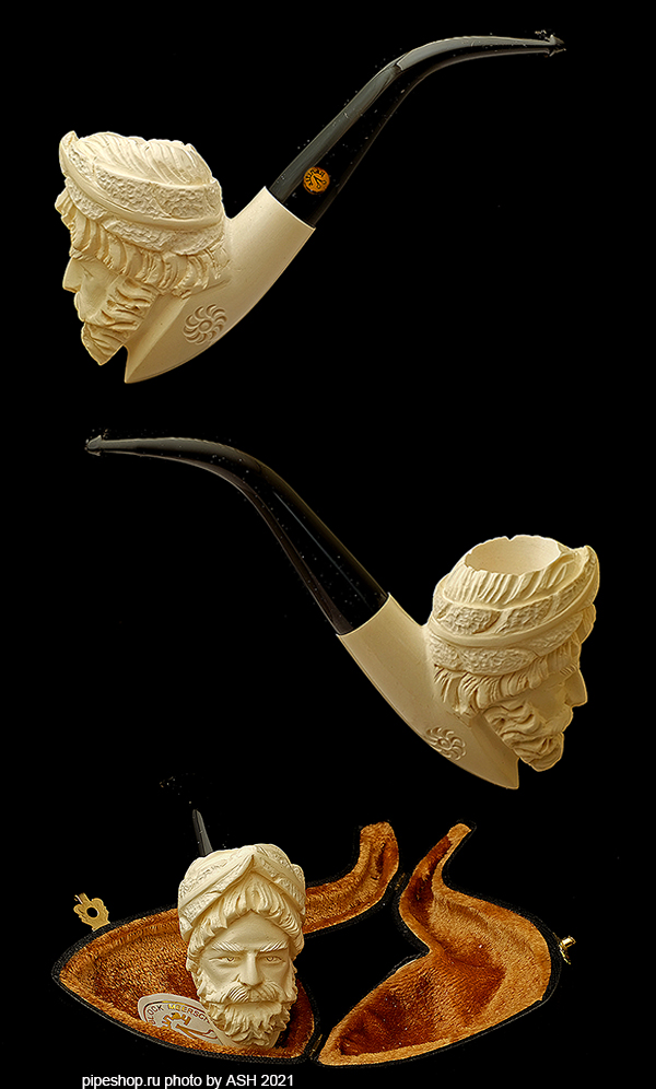 Курительная трубка ALTINAY MEERSCHAUM CARVED BENT ZEUS